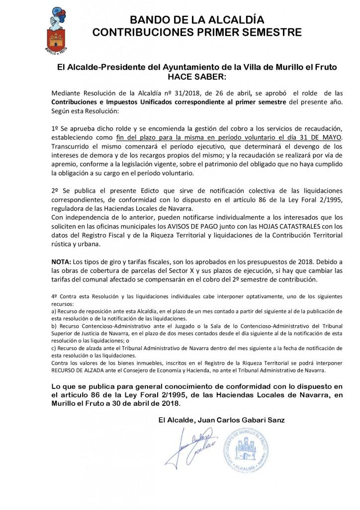 EDICTO CONTRIBUCION 1º SEM 2018-001