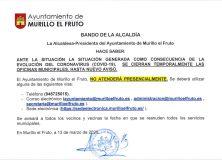 Actuación por coronavirus (Covid-19) en Murillo el Fruto